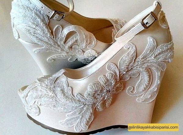 Gizli Topuk Gelin Ayakkabısı Siparişi