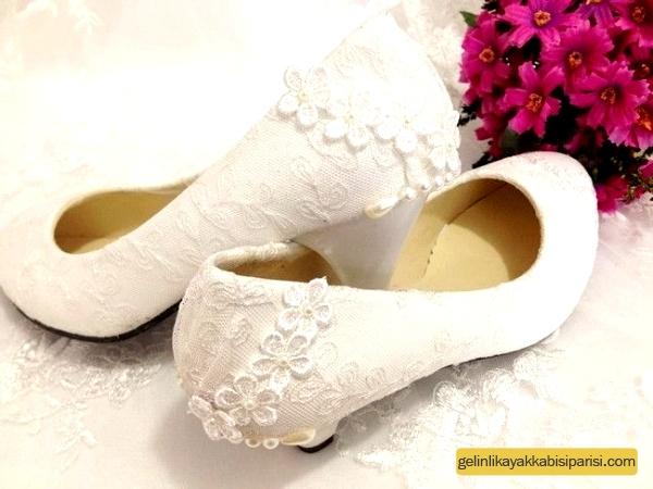 Topuksuz Gelin Ayakkabısı Modelleri 2017