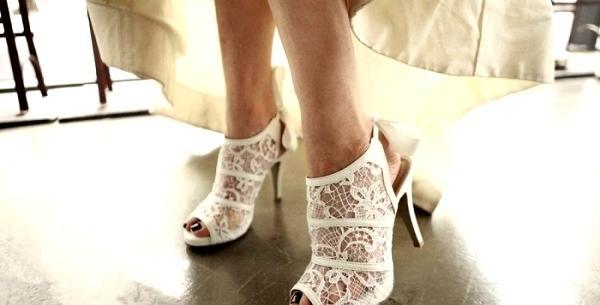 Dantelli Gelin Ayakkabısı Modelleri 2017