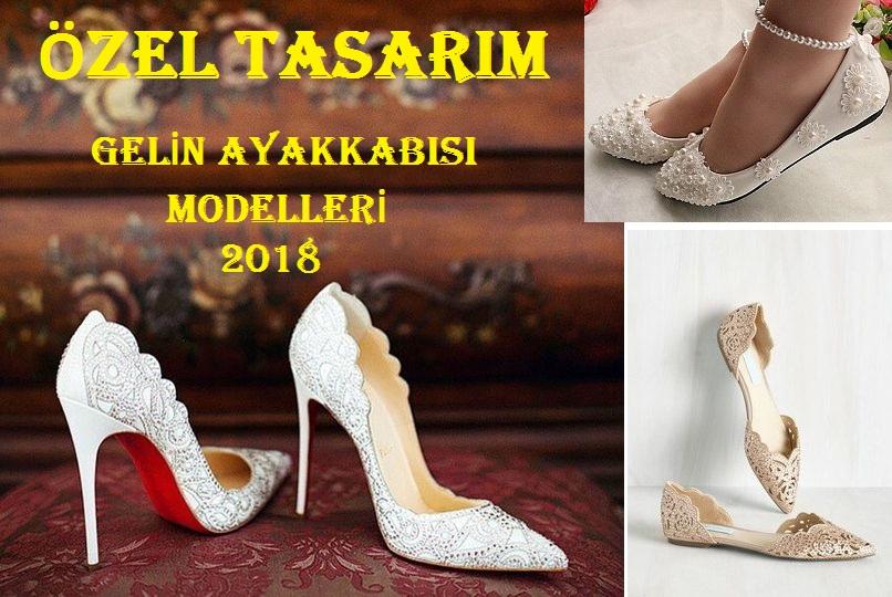 Özel Tasarım Gelin Ayakkabısı Modelleri 2018