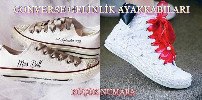 Converse Tabanlı Küçük Numara Gelin Ayakkabısı Modelleri
