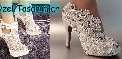 Dantelli Gelinlik Ayakkabı Modelleri