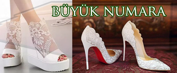 İstanbul'da Büyük Numara Gelinlik Ayakkabısı Yapımı