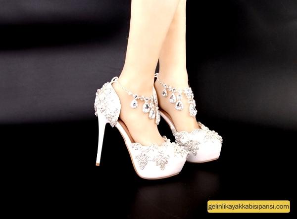 Beyaz Gelin Ayakkabısı Modelleri 2017