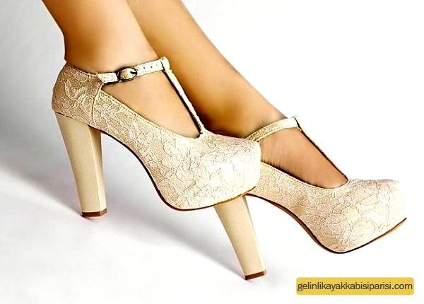 Gizli Platform Gelin Ayakkabısı Modelleri