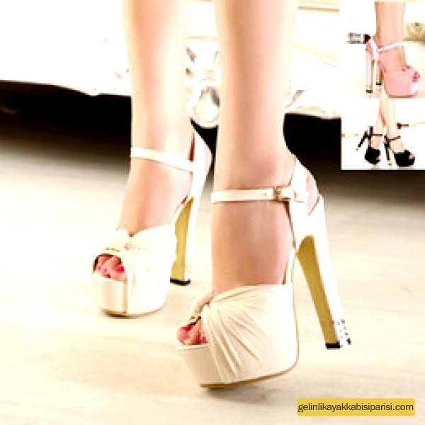 Kalın Topuklu Gelin Ayakkabısı Modelleri