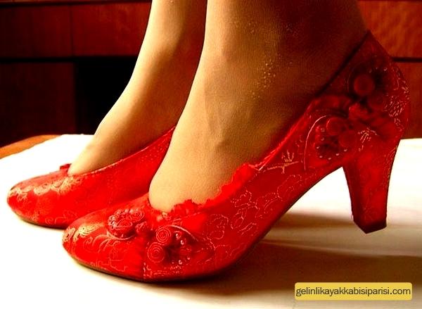 Renkli Gelin Ayakkabısı Modelleri
