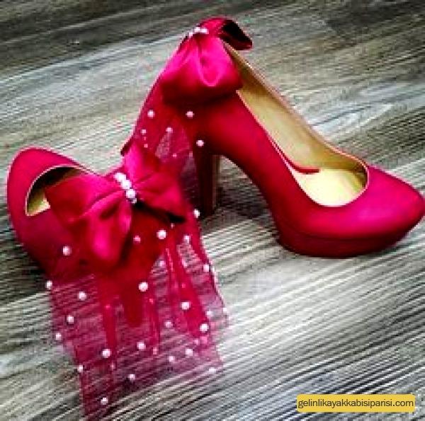 Renkli Nişan Ayakkabısı Modelleri 2017