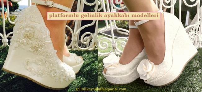 Platform Topuklu Gelinlik Ayakkabı Modelleri - Özel Sipariş